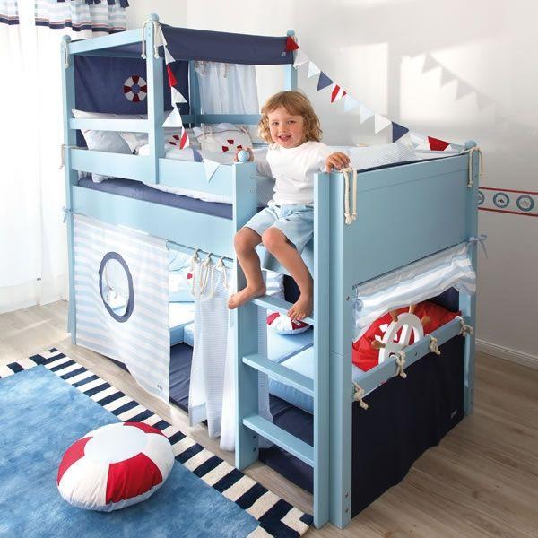 Annette Frank Spielbett Kutter, Hochbett 90 x 200 cm, mit - hochbett fur schlafzimmer kinderzimmer