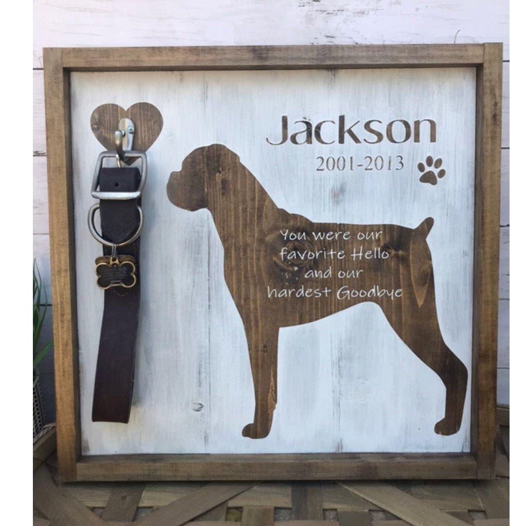Dog loss signdog memorial giftpet memorial gift