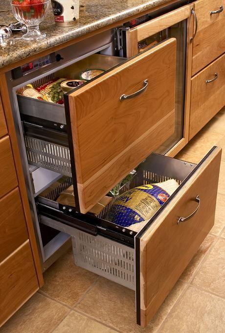 Undercounter Refrigerator Drawers Refrigerator Drawers Fridge Drawers Kitchen Inspirations
