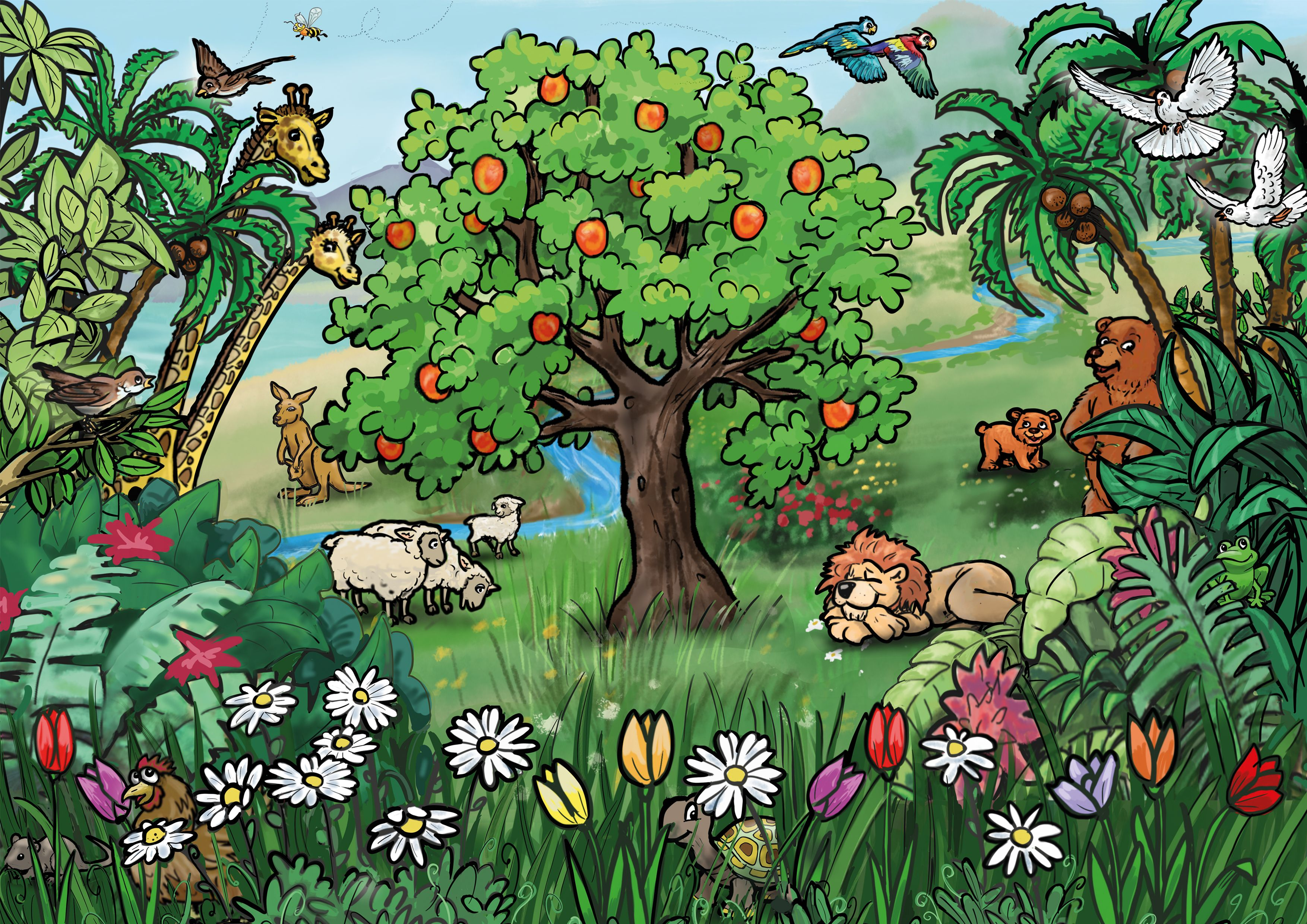 Adam Und Eva Im Garten Eden Bilder Zu Biblischen Geschichten Fur Vorschulkinder Adam Und Eva Sundenfall Bibel Geschichten