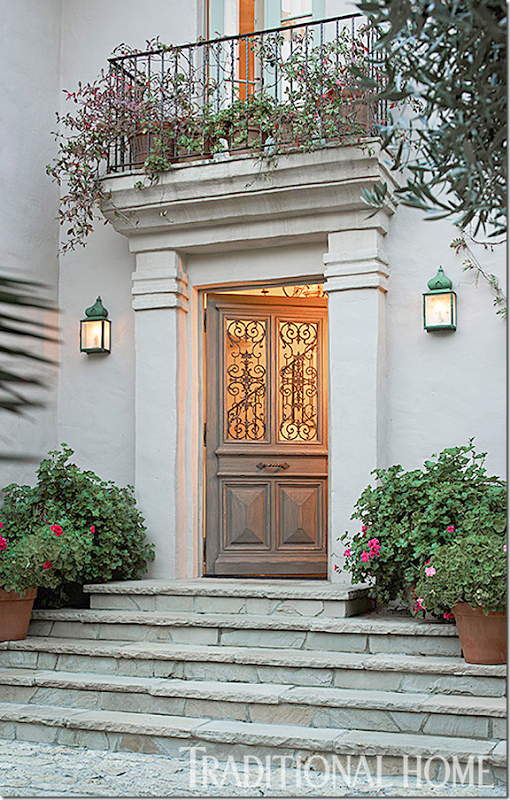 Traditional home 2014 here stone steps lead to the - Traditional french doors exterior ...