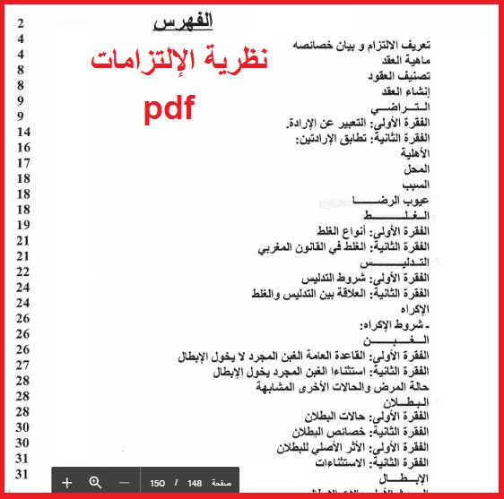 كتاب الشرح الوافي و التلخيص الكافي في نظرية الإلتزامات Pdf في ضوء قانون الالتزامات و العقود المغربي Math Books Math Equations