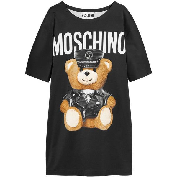9f1baaeddf Moschino Oversized printed jersey T-shirt dress ( 805) ❤ liked on Polyvore  featuring dresses