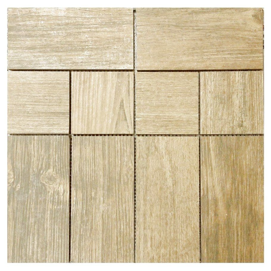 Shop Interceramic Newcroft 12 X 12 Barn Wood Brown Ceramic Mosaic Random Indoor Outdoor Floor Tile At Lowes Canada Flooring Outdoor Flooring Ceramic Floor Tile