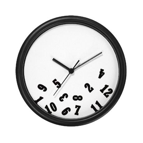 fresh idea whimsical clocks. Falling Numbers Wall Clock from CafePress Oops  Clocks Number and clocks