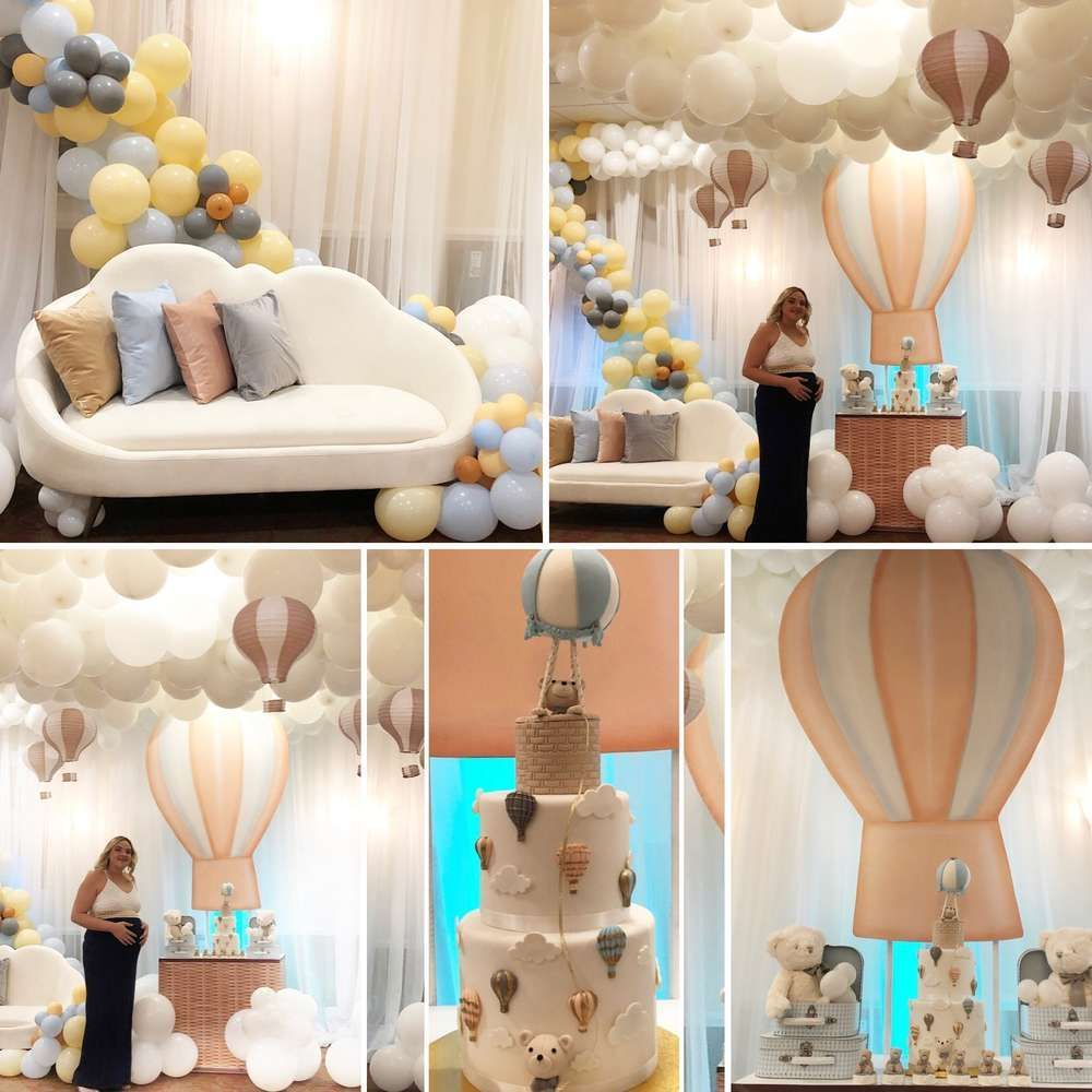 Hot Air Balloon Baby Shower Party Ideas | Photo 1 of 14