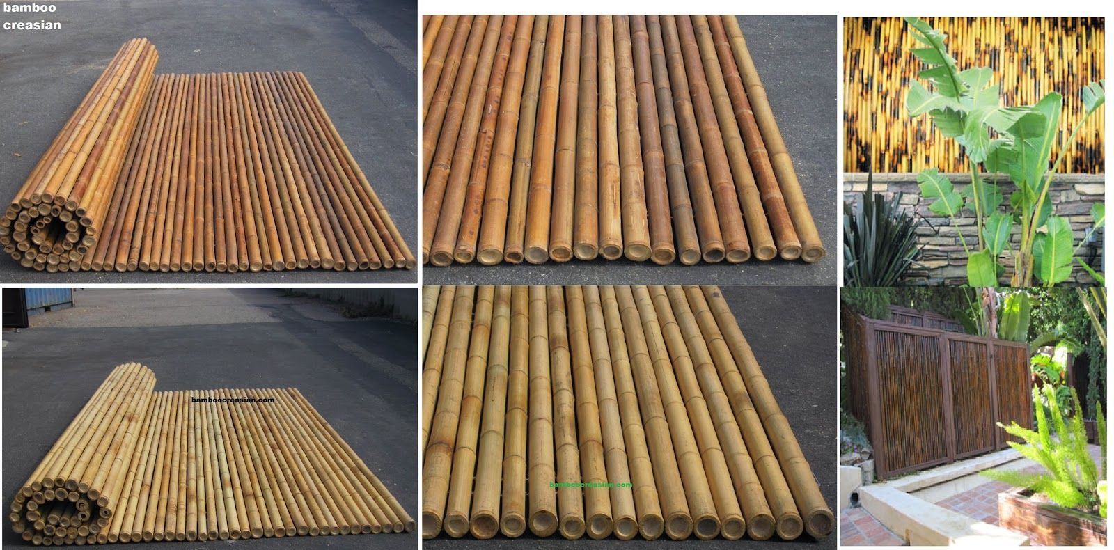 Bamboo Cane Fencing Natural Color 1 And 1 2 Inch Diameter Deals Bamboo Backyards And Patio Fence Panel Rolls Building Natural Fence Easily By Rolled Bamboo Fenc Bamboo Fence Bamboo Bar Bamboo Decking