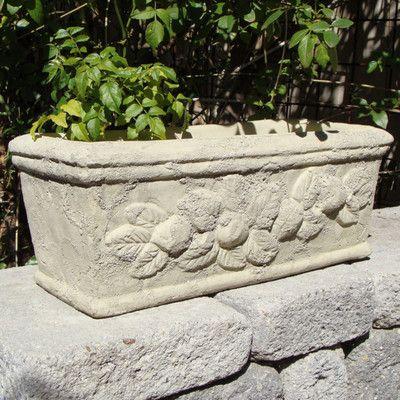 Designerstoneinc Rectangle Trough Stone Planter Box With Images Stone Planters Planters Planter Boxes