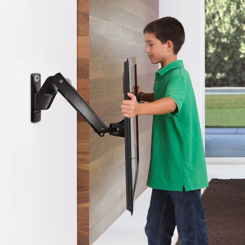 Omnimount Play40 Black Full Motion Interactive Wall Mount For 30
