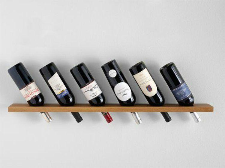 weinregal selber bauen und die weinflaschen richtig lagern holzplatte weinregale und wandregal. Black Bedroom Furniture Sets. Home Design Ideas