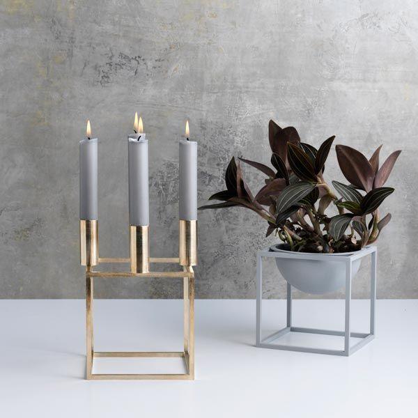 Kubus 4 Candleholder Brass Candle Holders Scandinavian Homewares Candles