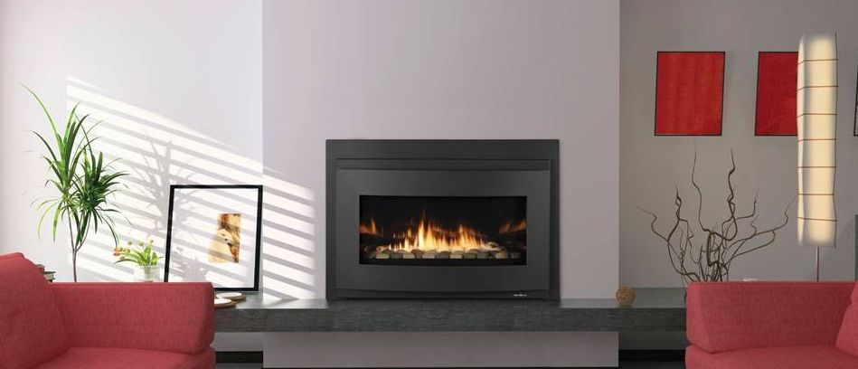 Transform An Existing Fireplace Opening A Reflective Black Glass