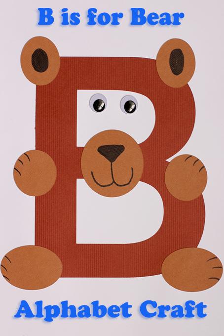 Alphabet Craft B Is For Bear Knuffelbeer Alfabet Thema