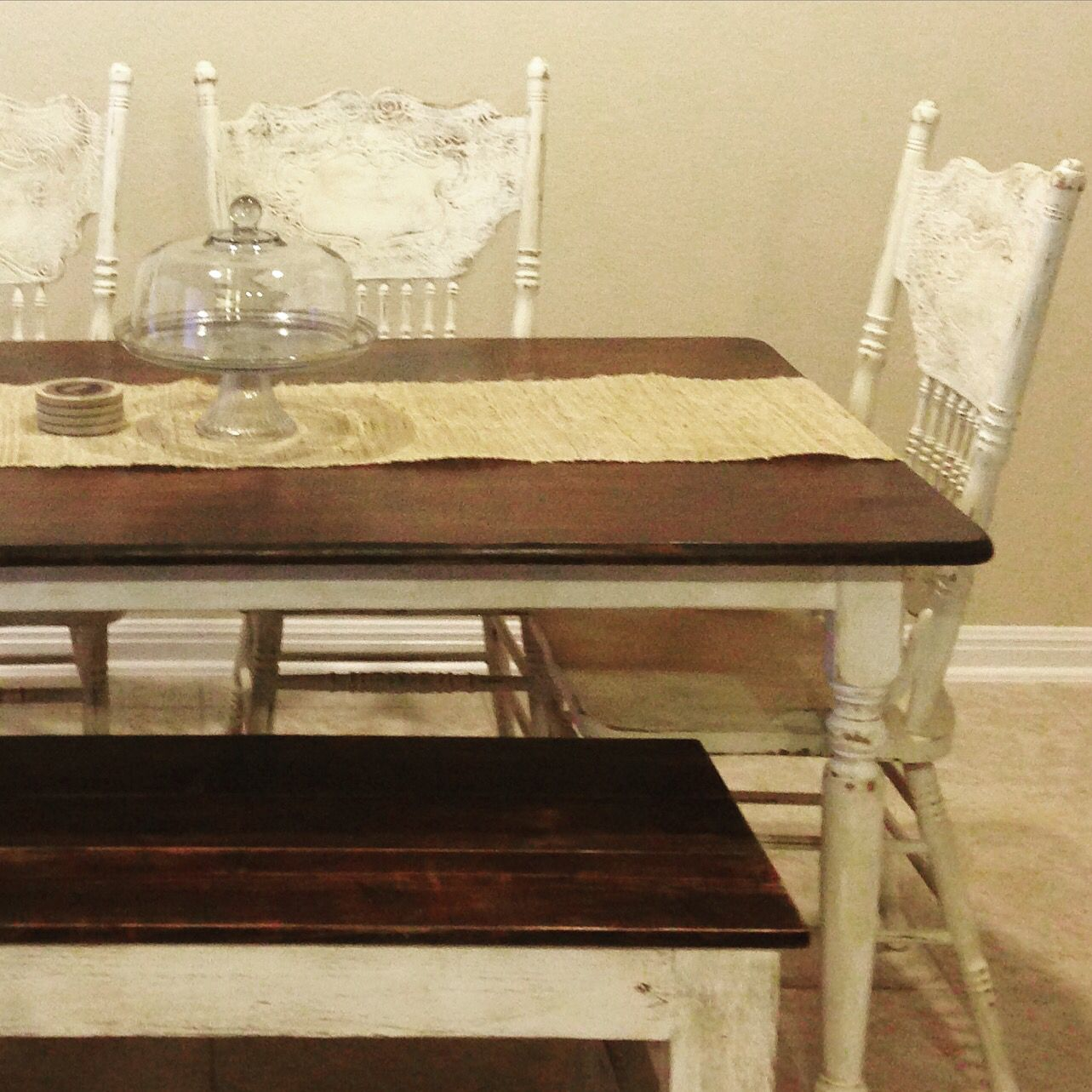 Shabby Chic Table Chairs And Bench Painted Distressed Havendesignco Shabby Chic Table Home Decor Design