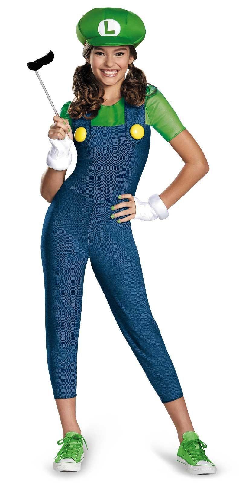 Super Mario: Tween Luigi w/Skirt Costume   Mario brothers, Tween ...