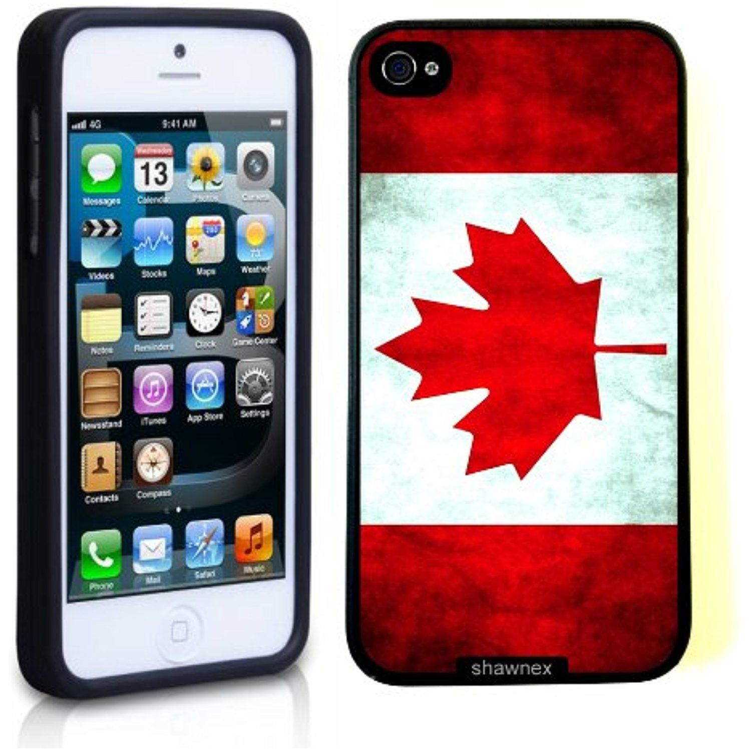 ed31e11b3ca Iphone 5 5S Case Thinshell Case Protective Iphone 5 5S Case Shawnex Canada  Canadian Flag Grunge Distressed     You can find out more details at the  link of ...