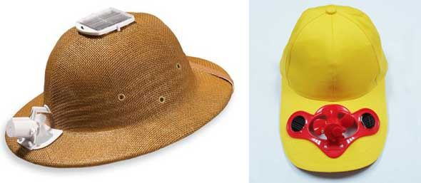 81ea85da4b4 What are they  Hats with solar-powered fans that help keep you cool when