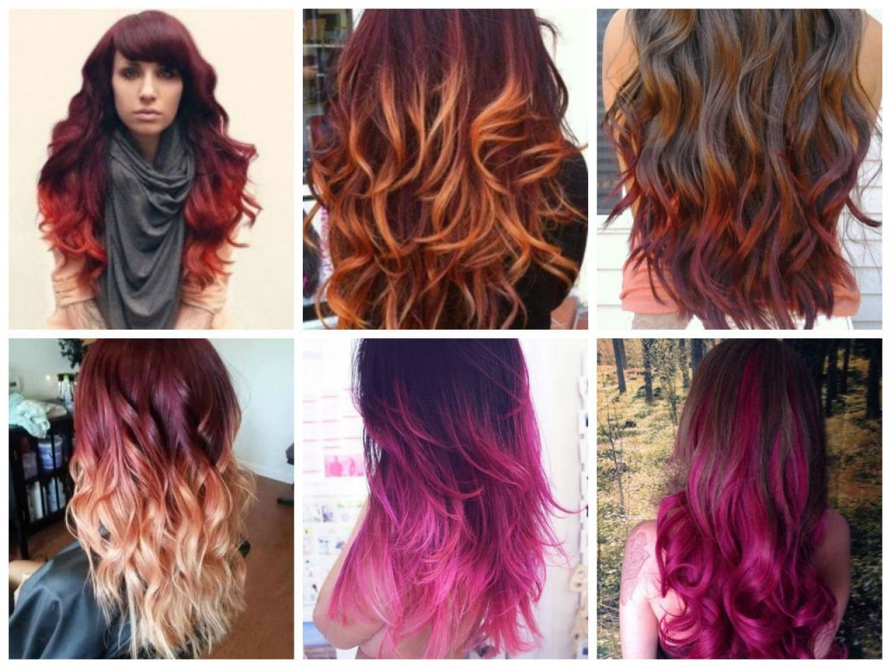 Image Result For Brown To Burgundy Ombre Short Hair