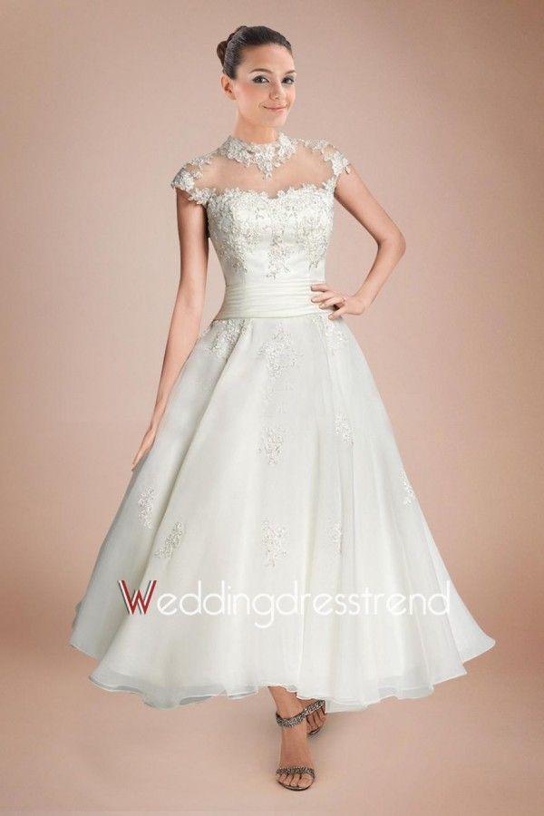 Best Ruched Bodice A-Line Chapel Train Wedding Dress - Shop Online ...