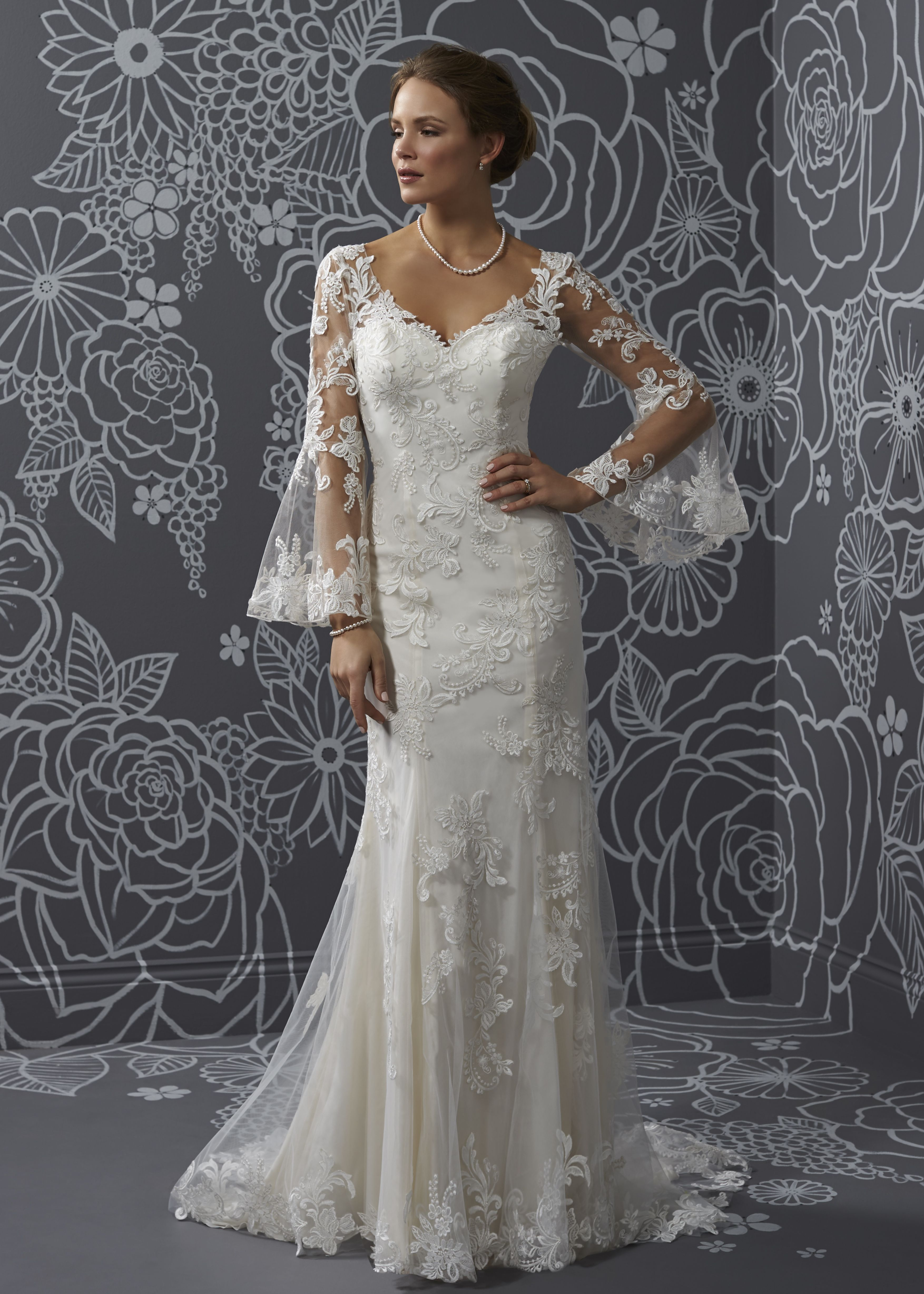 Elvira | weddings | Pinterest | White wedding gowns, Vintage ...