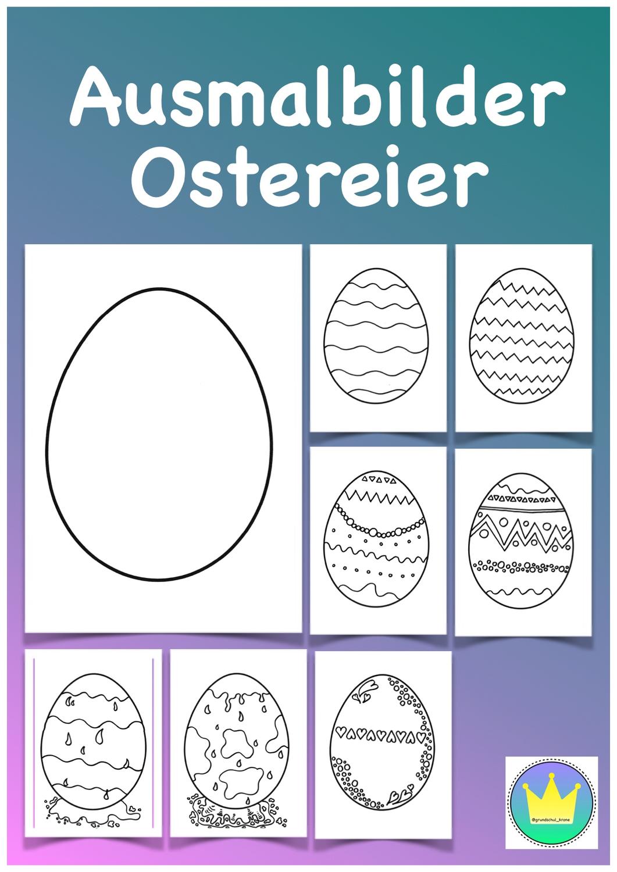 Ostereier Ausmalbilder Unterrichtsmaterial In Den Fachern Fachubergreifendes Kunst Osterei Ausmalbild Ostereier Ausmalbilder