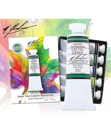 M Graham Jewel Tone Limited Edition Watercolor Set While