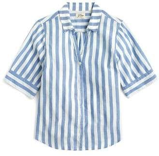 110a324f3 J.Crew J. CREW Wide Stripe Short Sleeve Button-Up Shirt | wardrobe ...