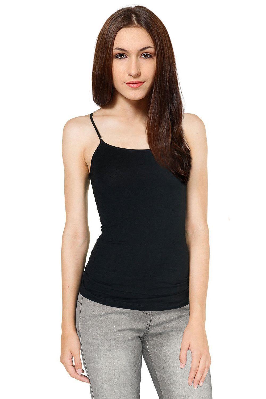 d58ea2b0ddb Women Plus Size Cami Built in Shelf Bra Adjustable Spaghetti Strap Tank Top