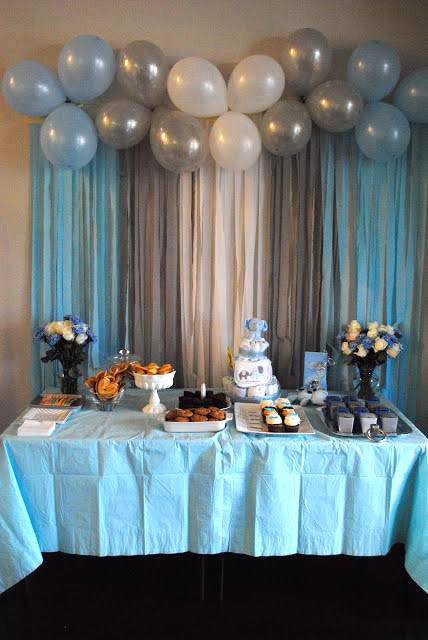Baby Boy Blue Themed Baby Shower Baby Shower Balloons Baby