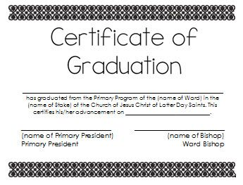 Primary advancement certificate by sheila lds nursery primary advancement certificate by sheila yelopaper Images