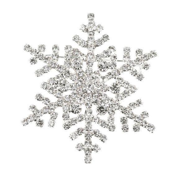 Snowflake Winter Christmas Holiday Stud by LaurenSpencerJewelry