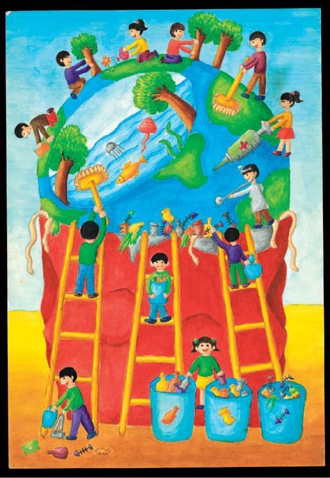 clean india green india posters drawings in english ...