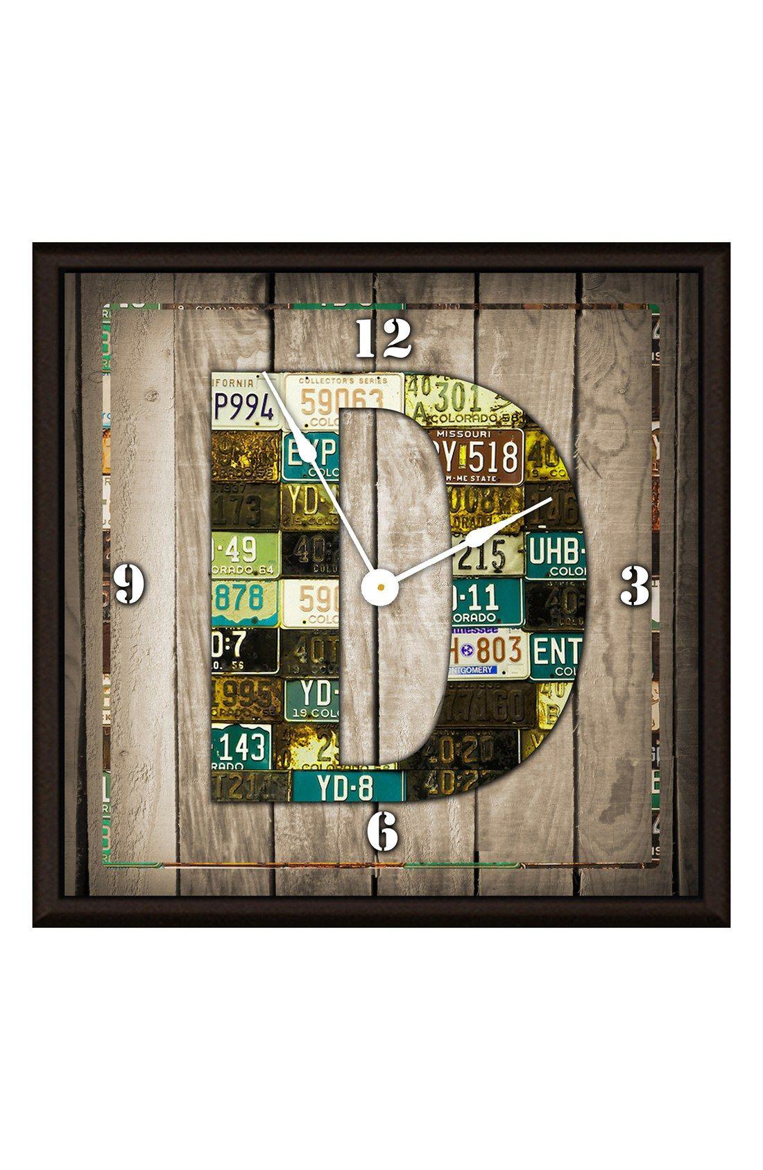 Green Leaf Art 'Wood Art' Clock