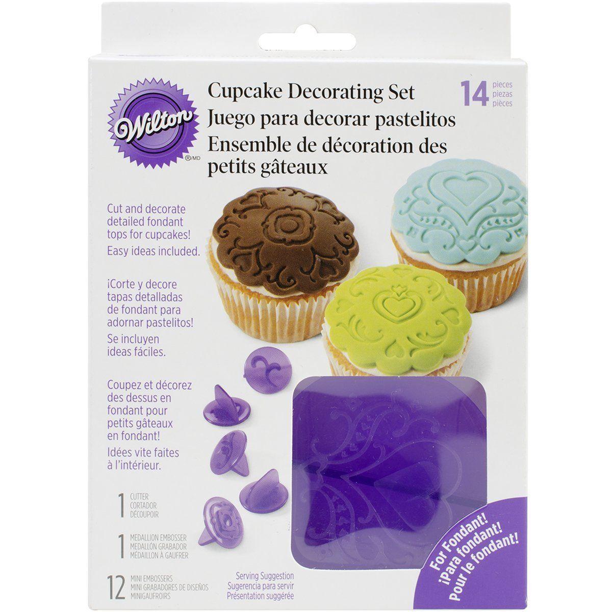 Create Festive Fondant Tops Sized To Precision With The Wilton Cupcake Decorating Set Hea Cupcake Decorating Supplies Cupcakes Decoration Cake Decorating Kits