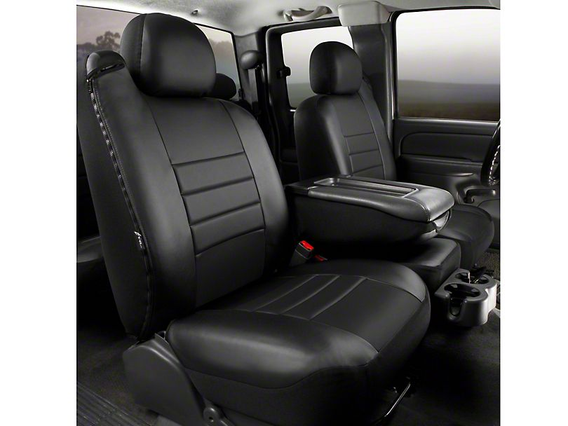 F 150 Custom Fit Leatherlite Front 40 20 40 Seat Cover Black 11 14 F 150 W Bench Seat Truck Seat Covers Leather Seat Covers Custom Seat Covers