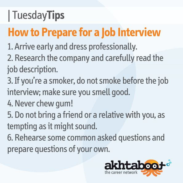 Knowing proper job interview etiquette is an important part of