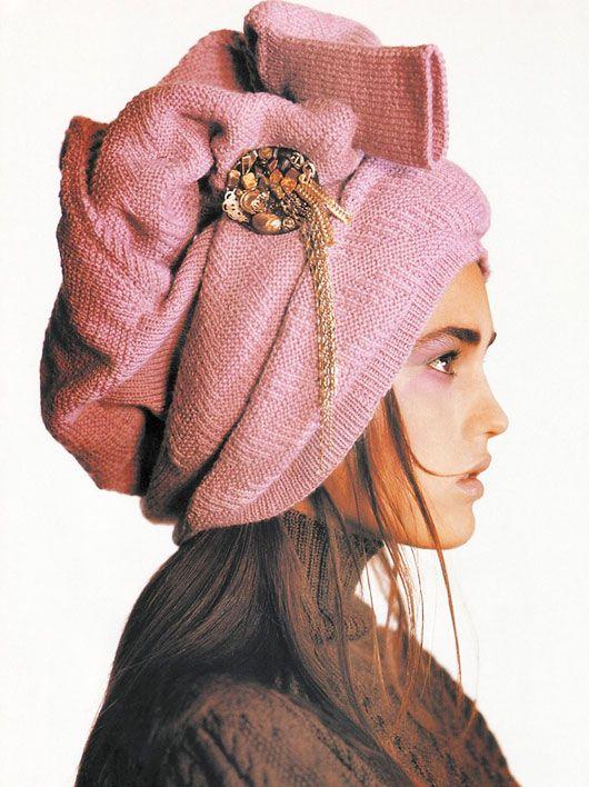 sweater as turban