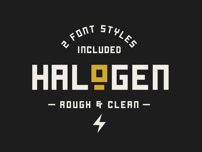 Halogen - A Free Font | Type | Industrial font, Best free fonts