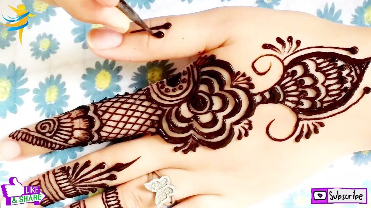 Arabic Gol Tikki Mehndi Design Drawing With Henna For Hands نقش حناء Mehndi Designs Simple Mehndi Designs Henna Hand Tattoo