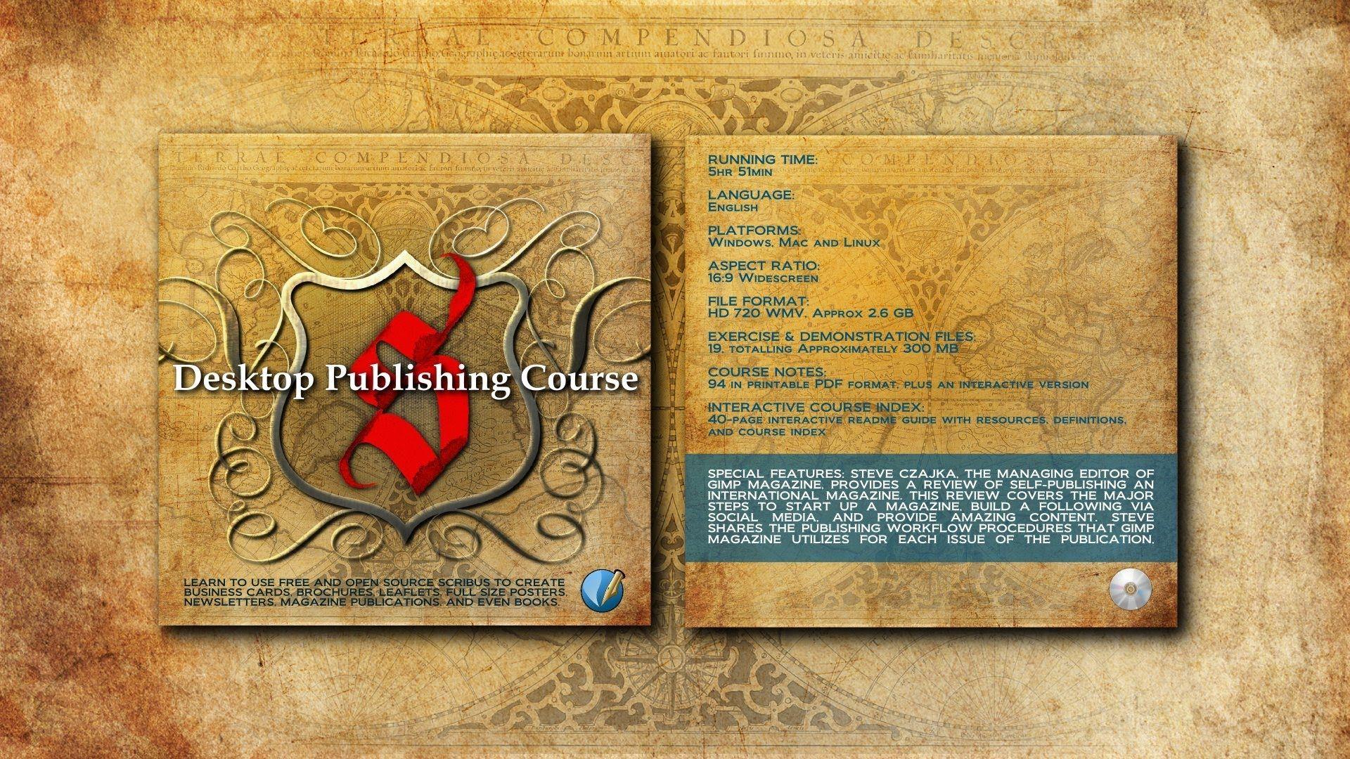 Desktop Publishing Course Using Scribus, an open source