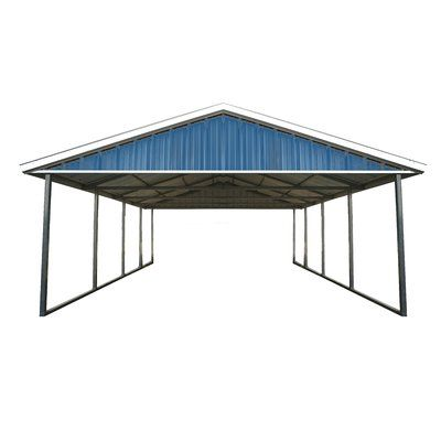 Best 12 Ft W X 26 Ft D Solid Wooden Garage Shed Metal Roof 400 x 300