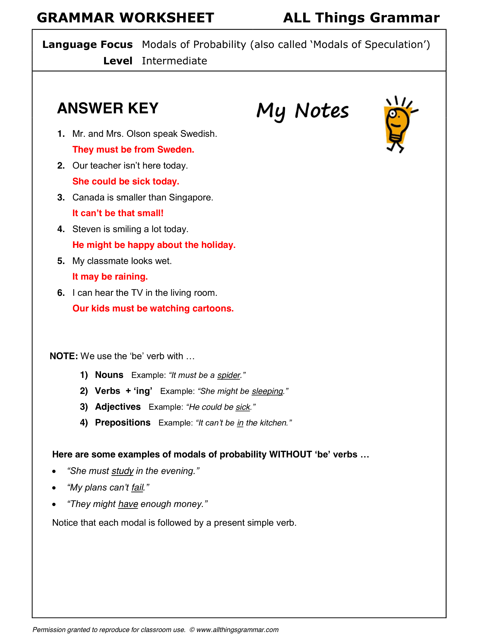 English Grammar Modals Of Probability With Be For