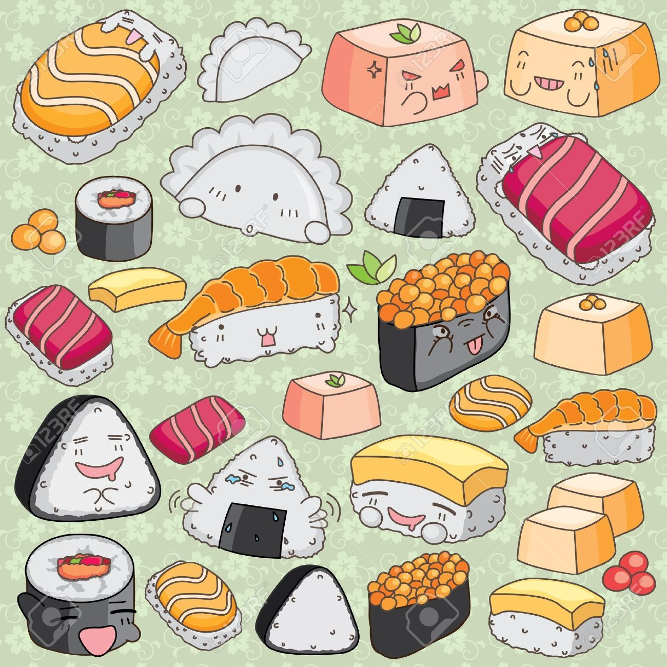pizza vector free Google Search Japanese food art
