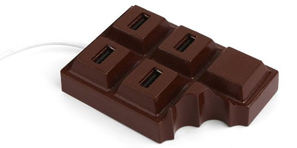 Kikkerland Chocolate USB Hub