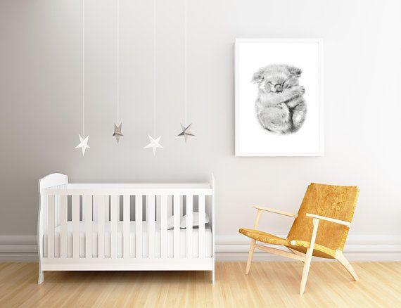 Wall Decor Prints Australian Animal Farmhouse Koala