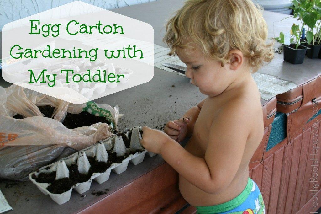 Egg Carton Gardening with My Toddler