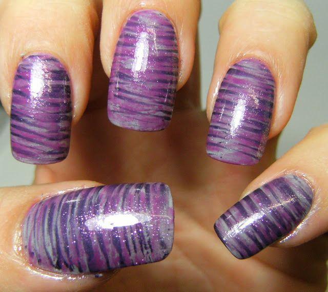 purple fan brush nails | n | Pinterest | Fan brush, Fans and Nails