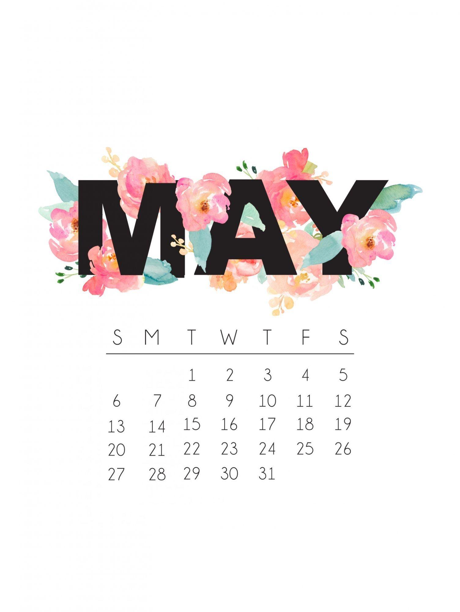 May 2018 IPhone Calendar Wallpaper