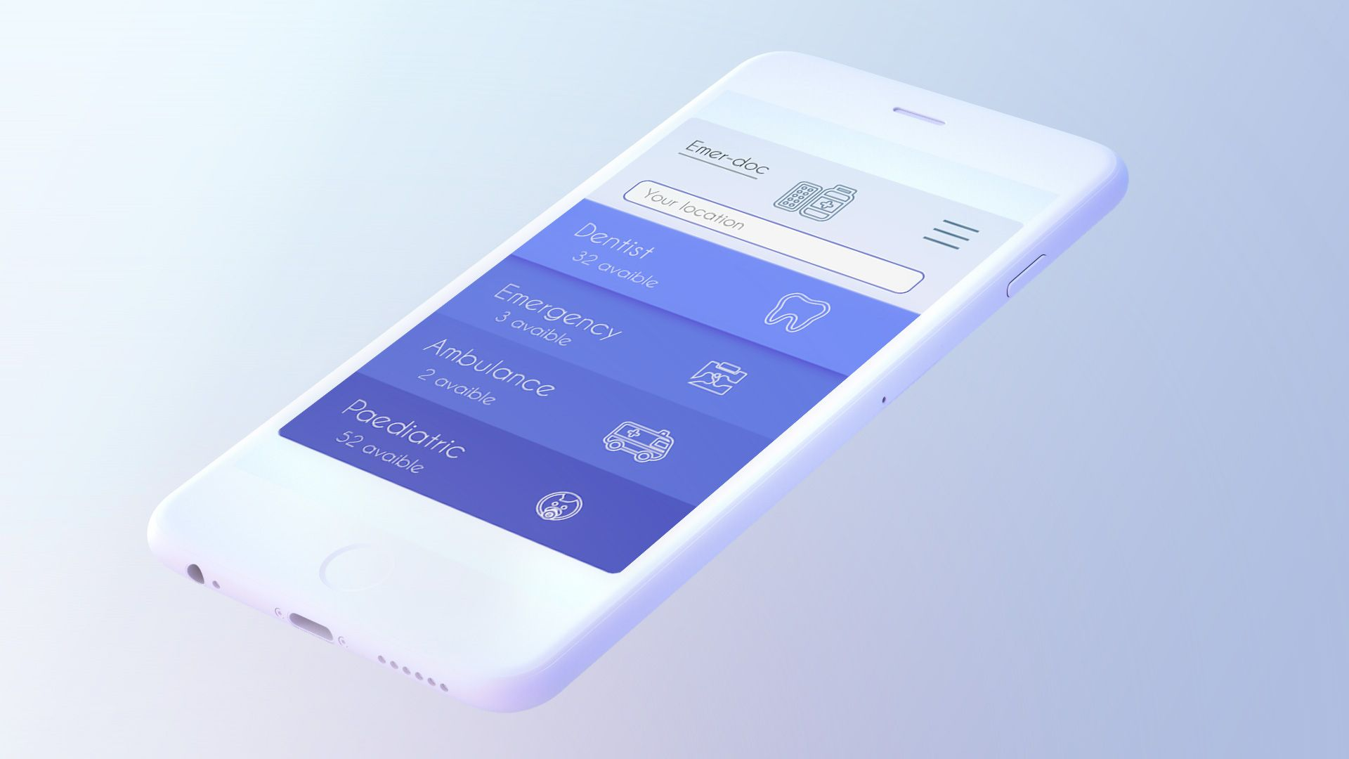 다음 Behance 프로젝트 확인 \u201cEmergency mobile app design
