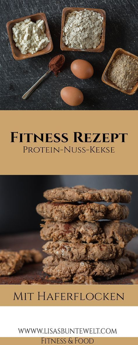 Fitness Rezept | Gesunde Protein-Nuss-Kekse mit Haferflocken - LisasBunteWelt